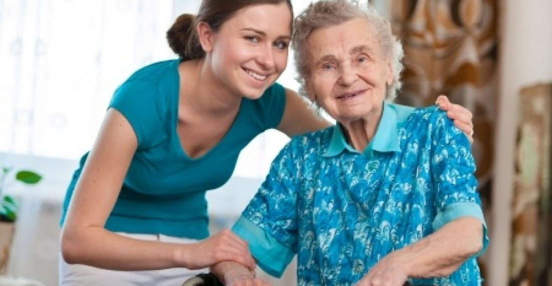 14298409 - senior woman with her caregiver at home